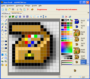 Icon Profi screenshot: icon, xp, free icons, 32-bit