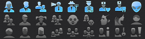 High Resolution App Tab Bar People Icons